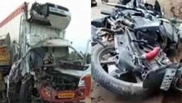 lorry bike accident and five people dead today