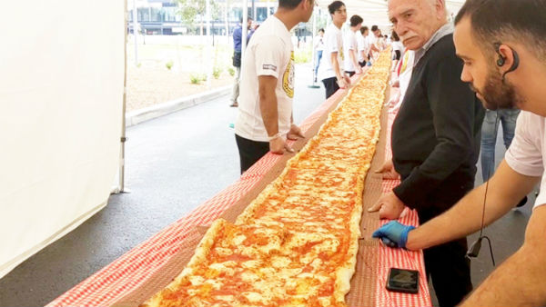 103 meter pizza made to raise funds for australian firefighters