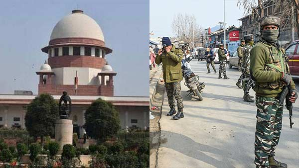 SC will deliver the verdict on today on pleas challenging curbs in Kashmir