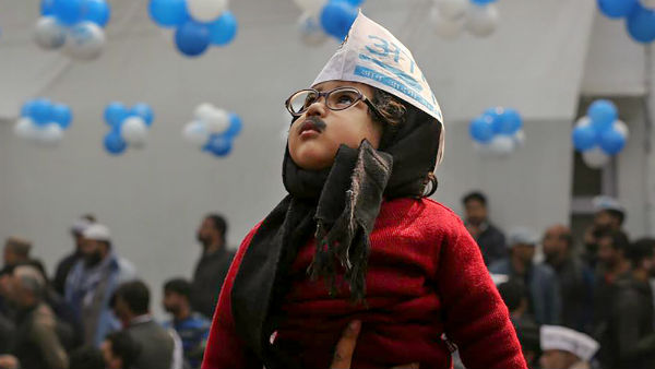 Baby Mufflerman is invited to the swearing in ceremony of Arvind Kejriwal on 16th Feb: AAP