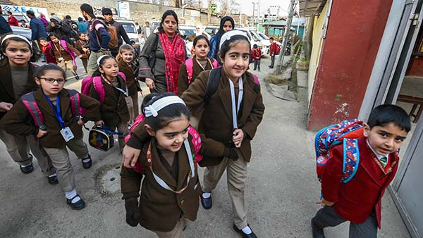 Schools in Kashmir reopen after nearly seven months