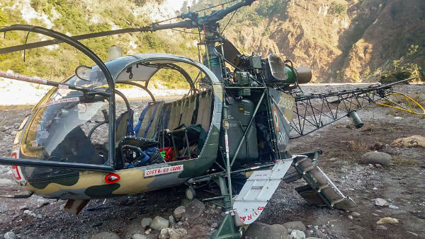 An Army Cheetah chopper crashed near Reasi district in Jammu Kashmir
