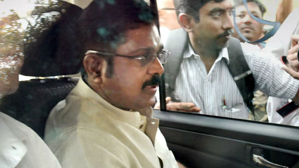 Dinakaran waited in the car as the signal was not received
