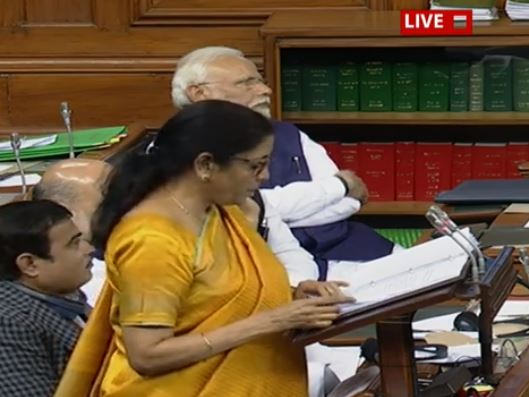 Finance minister Nirmala sitharaman and couldnt make full budget speech