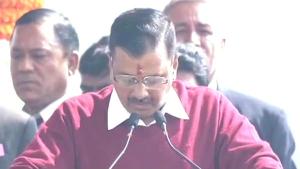 Arvind Kejriwal sworn in as the Delhi Chief Minister for the third time in the row today