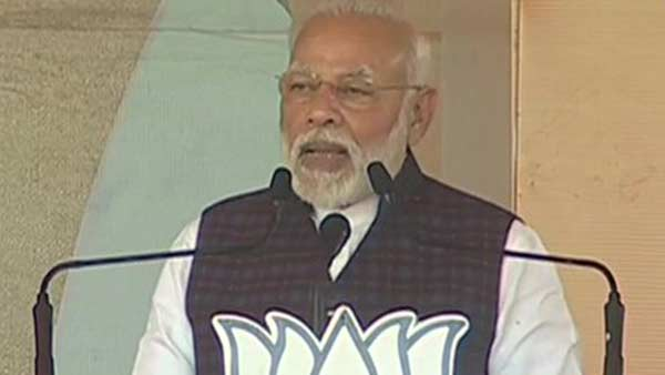 PM Narendra Modi slam AAP at an election rally in Delhi