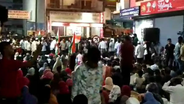 Muslims stage protest in Chennai Mannady