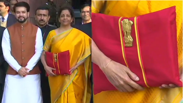 FM Sitharaman back with red-colored bahi khata for Budget 2020-21