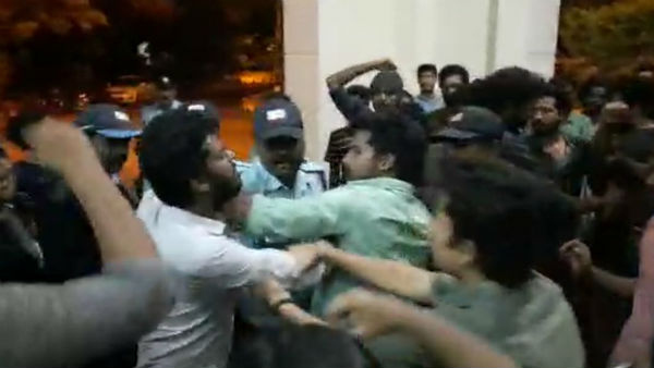Pondicherry central university students protest against citizenship amendment act