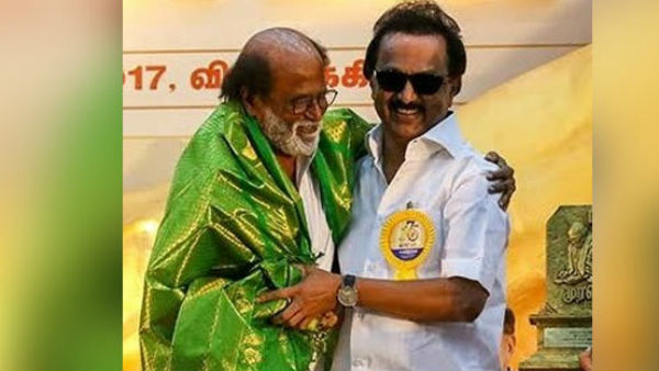 actor rajinikanth replies mk stalin indirectly