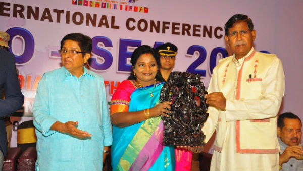 Telangana Governor Tamilisai participated in the international seminar in Puducherry