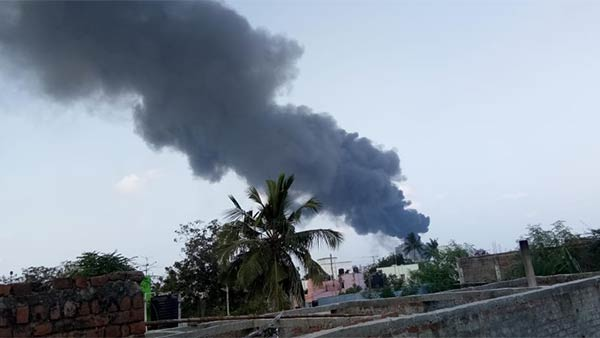 The Madhavaram fire affected area is being under control by the police