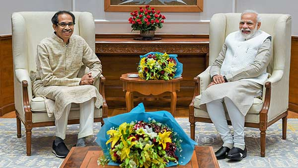 Maharashtra CM Uddhav Thackeray meets PM Modi