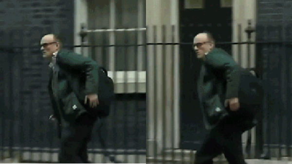 UK PMs adviser seen running out of PMs residence