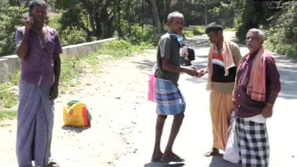 கேரளாவில் இருந்து தமிழகத்துக்கு மலைகளைக் கடந்து 3 நாட்களாக நடந்தே வந்த உசிலம்பட்டி கூலி தொழிலாளர்கள்
