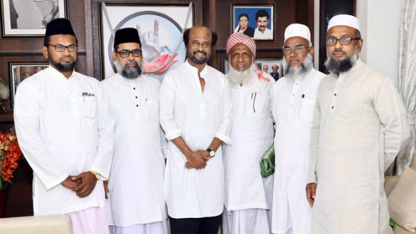 I am ready to anything to make peace says Rajinikanth after meeting jamiat ul ulama