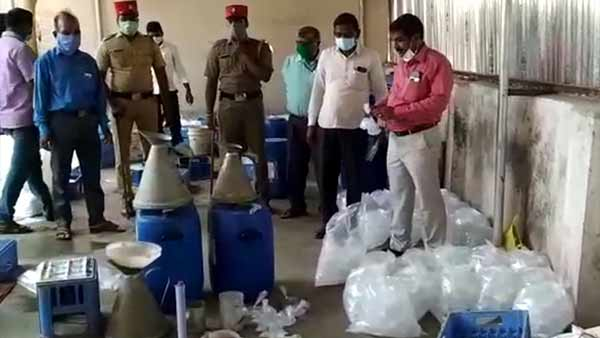 Authorities sealed illegal liquor factory in Puducherry