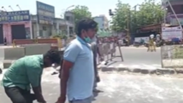 chennai youth says gives kiss, in police after curfew break down