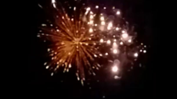 People celebrates PM Modis invite with firecrackers