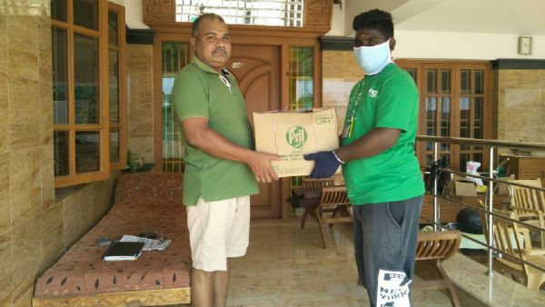 Corona Lockdown: Karur MRV Trust supplies free door delivery of grocery materials