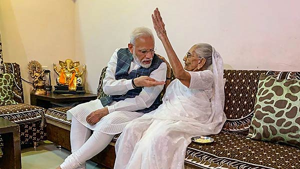 PM Narendra Modis mother donates Rs 25000 for PM Cares fund