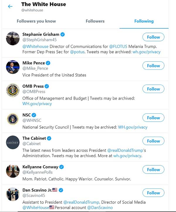White House unfollows PM Modi on Twitter