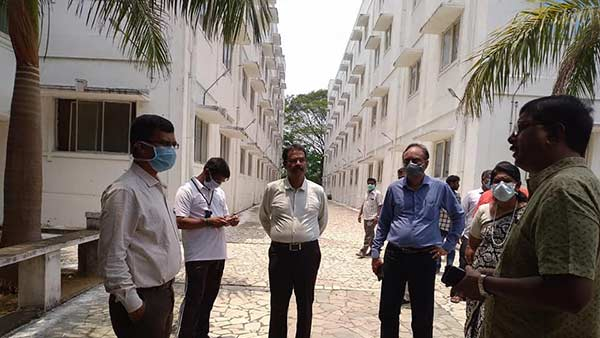 TN Govt officials inspect Vijayakants Andal Alagar Engineering College for Coronavirus hospital
