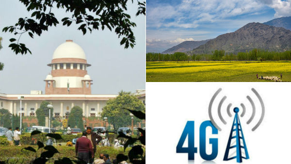 Supreme court asks Special Committee to take decision to restore 4G internet in Jammu and Kashmir