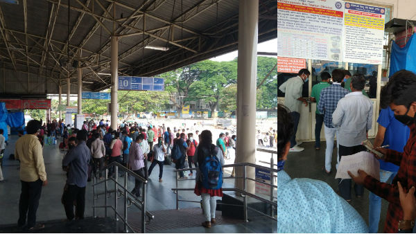 கர்நாடகாவில் பேருந்து டிக்கெட் கட்டணம் 3 மடங்கு உயர்வு... திகைத்து நின்ற தொழிலாளர்கள்