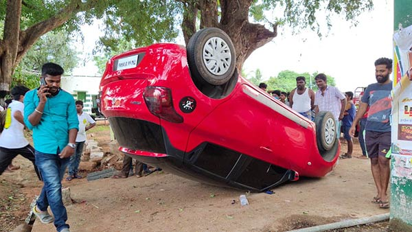 lockdown: car accident in thondamuthur near kovai