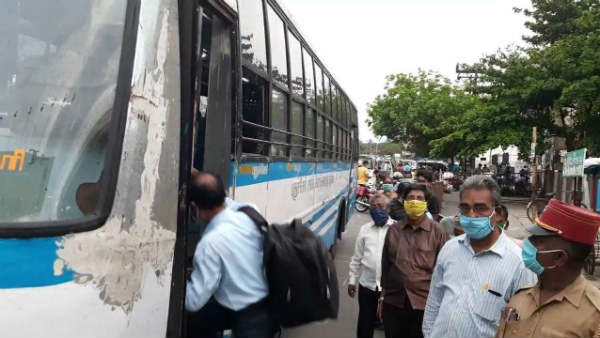 A govt bus service has been started from Puducherry to Karaikal