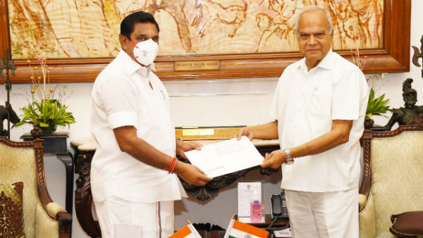 cm edappadi palanisamy met the governor 3 times in 2 months