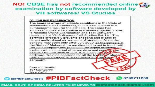 Fake News Buster: We are not conducting online board exam, says CBSE