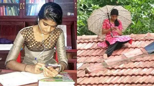 kerala college student climbed rooftop to attend online classes, viral video