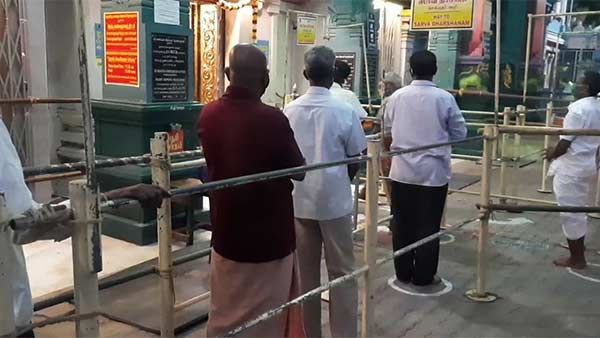 Temples opened in Pondicherry