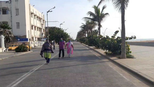 Puducherry Beach Road opened today