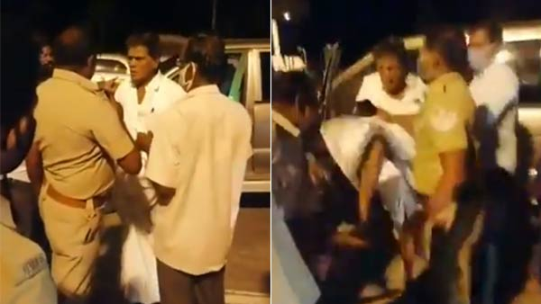 saathankulam: former aiadmk mp arjunan who kicked policemen, viral video