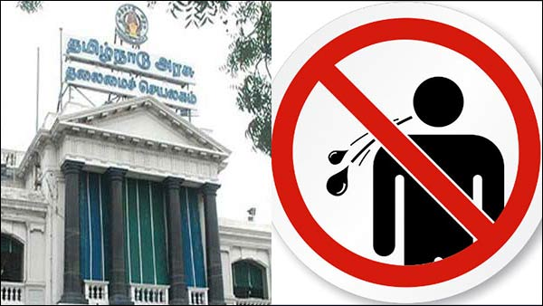 Tamilnadu in his GO states that no one spit litter in the public places