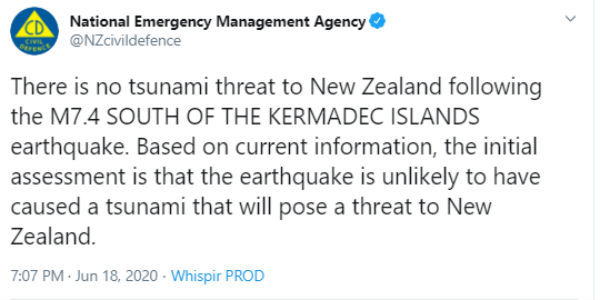 Powerful 7.4 magnitude earthquake hits northeast of New Zealand