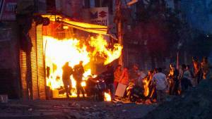 9 killed in delhi riots and they were forced to chant jai shri ram, says police