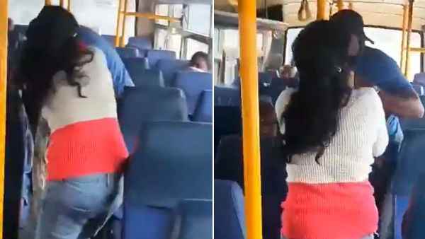 bengaluru girl thrashes a man who misbehaved with her in moving bus