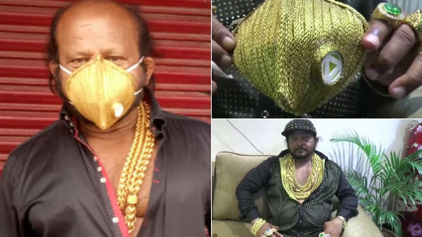 Cuttack business man wears rs. 3.5 value gold face mask