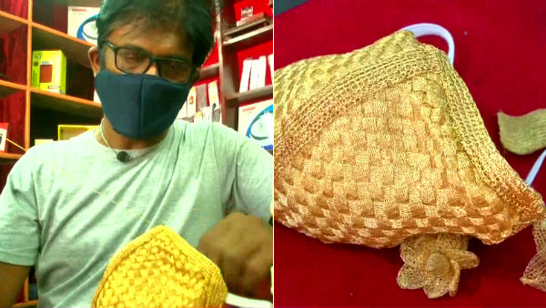 Coimbatore Goldsmith has made gold and silver face mask