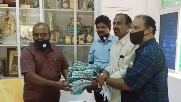 Inspiration: Theni school old students gifts 500 face masks