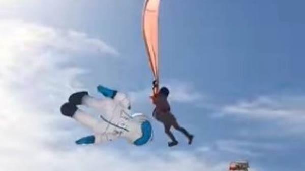 A 3-year-old girl lifted several meters in the air while flying a kite in Taiwan