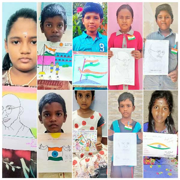 Independence Day Competitions: School students participating online