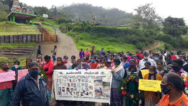 Tea Estate Labourers Pay tribute to Kerala Landslide Victims