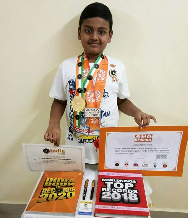Kevin Raahul sets a new world record in Asia Book of Records