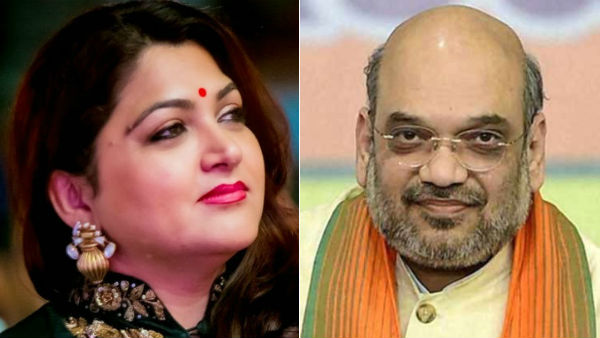 I pray to God that Amit Shah recovers soon: Khushboo tweeted