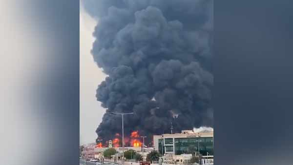 massive fire breaks out at UAE's Ajman market After Beirut blast